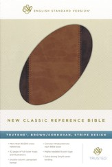 New Classic Reference Bible (TruTone, Brown / Cordovan, Stripe Design)