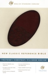 ESV New Classic Reference Bible, TruTone, Chestnut, Filigree Design