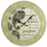 To Everything There Is A Season Wall Clock, Glass