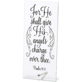 For He Shall Give His Angels Charge Over Me Tabletop Plaque