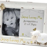 Jesus Loves Me, Lamb Photo Frame