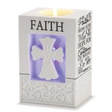 Faith, Cross Votive Candle Holder