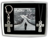 Follow Me Cross Pendant and Keyring Gift Set