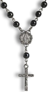 Rosary Necklace, Black