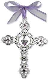 Filigree Wall Cross with Grapes