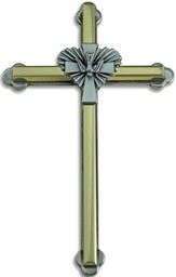 Two Tone Dove Wall Cross