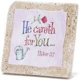 He Careth For You Tabletop Plaque