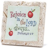 Rejoice In the Lord Tabletop Plaque
