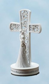 Couple with Cross Cake Topper