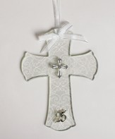 25th Anniversary Wall Cross with Cross Embellishment