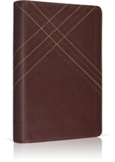 ESV Personal Size Reference Bible TruTone, Brown, CrossWeave Design
