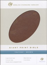 ESV Giant Print Bible TruTone, Brown