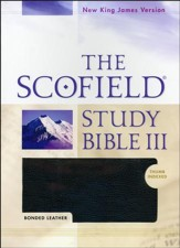 NKJV Scofield Study Bible III, Bonded leather, black, indexed