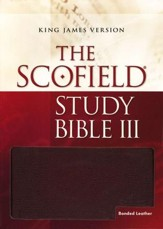 KJV Scofield Study Bible III Burgundy Bonded Leather,  Thumb-Indexed