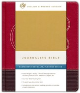 ESV Journaling Bible--soft leather-look, raspberry/chocolate