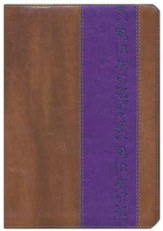 ESV Study Bible, TruTone, Brown/Purple with Iris Design