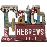 Faith, License Plate Scripture Figure
