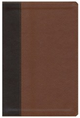 ESV Single Column Legacy Bible, Pocket Cover, TruTone, Brown/Cordovan, Portfolio Design