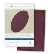 ESV Single Column Legacy Bible, TruTone, Burgundy, Frame Design