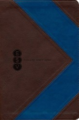 ESV Student Study Bible, TruTone, Brown/Blue, Arrow Design - Slightly Imperfect