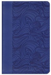 ESV Compact Bible, TruTone, Deep Blue, Waves Design