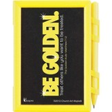 Be Golden Memo Pad with Pen