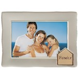 Family Photo Frame with House