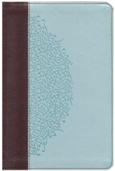 ESV Personal-Size Study Bible, TruTone, Chocolate/Blue, Ivy Design - Imperfectly Imprinted Bibles