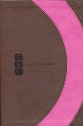 ESV Student Study Bible, TruTone, Brown/Pink, Arc Design