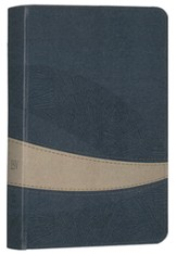 ESV Large Print Compact Bible (TruTone, Navy/Taupe, Curve Design)