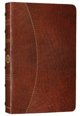 ESV Vintage Thinline Bible (Cowhide, Chestnut, Hemisphere Design)