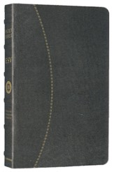 ESV Vintage Thinline Bible (Cowhide, Black, Hemisphere Design)