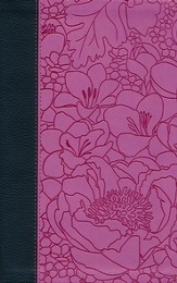 ESV Thinline Bible (TruTone, Ebony/Berry, Bouquet Design)