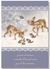 Peace of Nature Christmas Card, Pack of 25