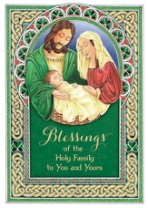 Irish Holy Family Cards, Package of 25