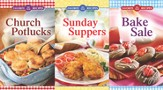 Favorite All-Time Recipes Cookbook Set: Church Potlucks, Sunday Suppers And Bake Sale