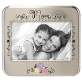 Mom Photo Frame with Flowers