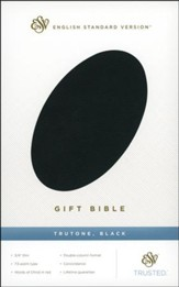 ESV Gift Bible, Black imitation leather