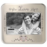 Love Photo Frame with Flowers