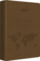 ESV Global Study Bible (TruTone, Brown), Leather, imitation