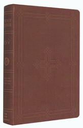 ESV Personal Reference Bible, Imit. Leather,  Brown - with Engraved Cross Design