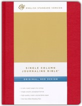 ESV Single Column Journaling Bible (Red)
