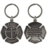 Firefighter, A Caring Heart, Keyring