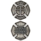 Firefighter, A Caring Heart, Pocket Stone