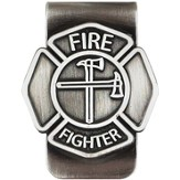Firefighter, A Caring Heart, Money Clip