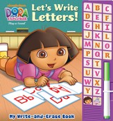 Dora The Explorer: Let's Write Letters! Write And Erase Soundbook With Marker