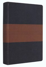 ESV Personal Reference Bible, Navy/chestnut soft leather-look with trail design