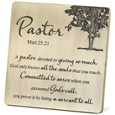 Pastor Tabletop Plaque