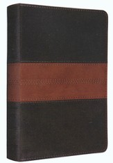 ESV Personal Reference Bible, TruTone, Deep Brown/Tan Trail Design