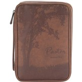 Pastor Bible Cover, Brown, Large